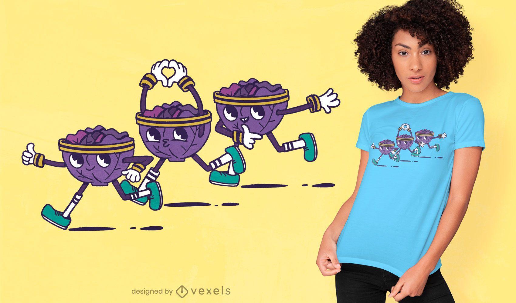 Diseño de camiseta fitness lechuga.