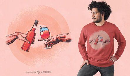 Diseño de camiseta de creación Aperol.