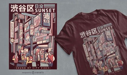 Japanese street t-shirt design