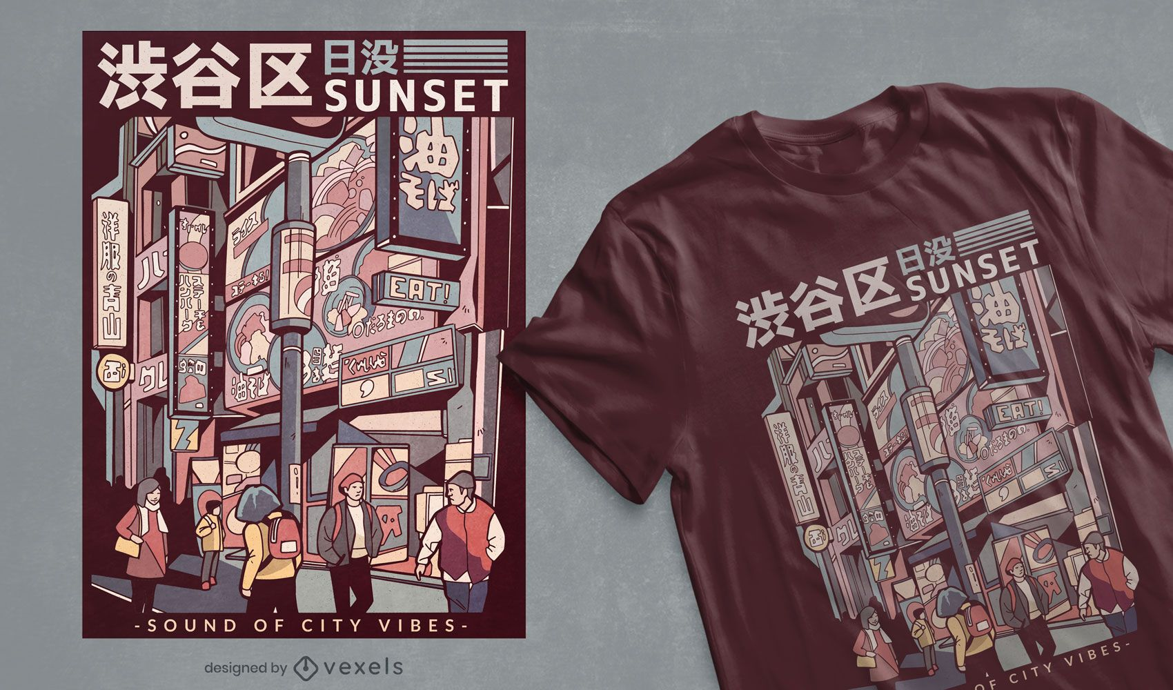 Japanese street t-shirt design