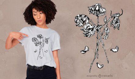 Dead roses t-shirt design