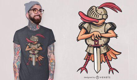Duck medieval knight t-shirt design