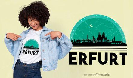 Diseño de camiseta de horizonte nocturno de Erfurt Alemania