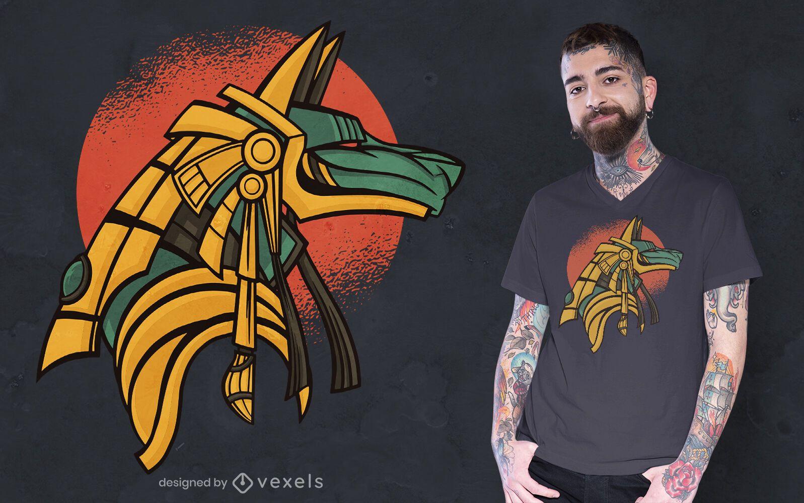 Design de camiseta do Anúbis Egito Antigo