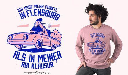 Schnelles Auto deutsches Zitat T-Shirt Design