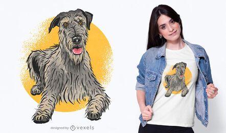 Diseño lindo de la camiseta del perro de caza