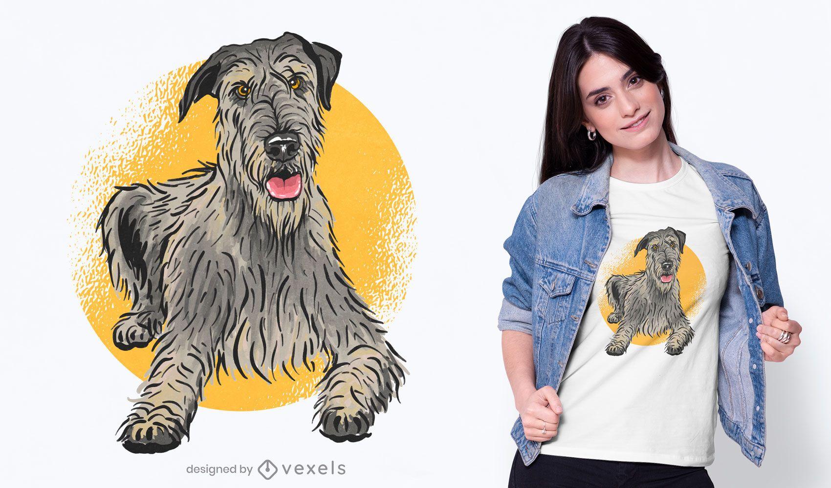 Cute hound dog t-shirt design