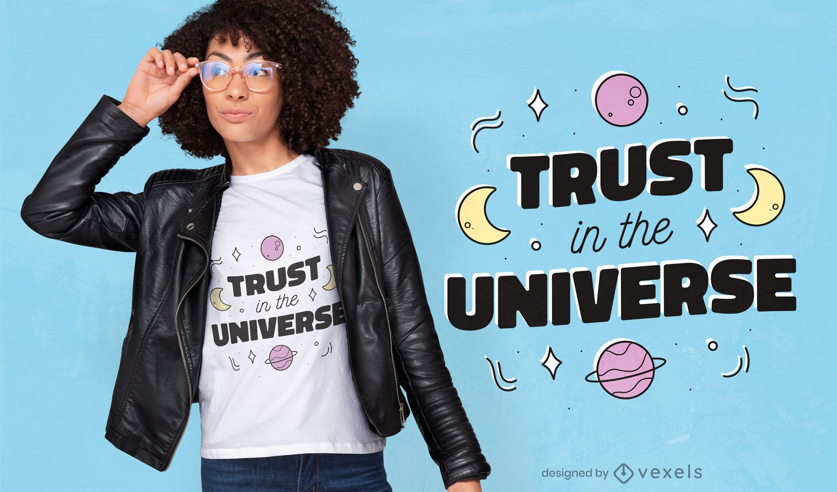 Trust in the universe t-shirt design