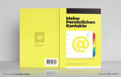 Telephone guide german book cover design