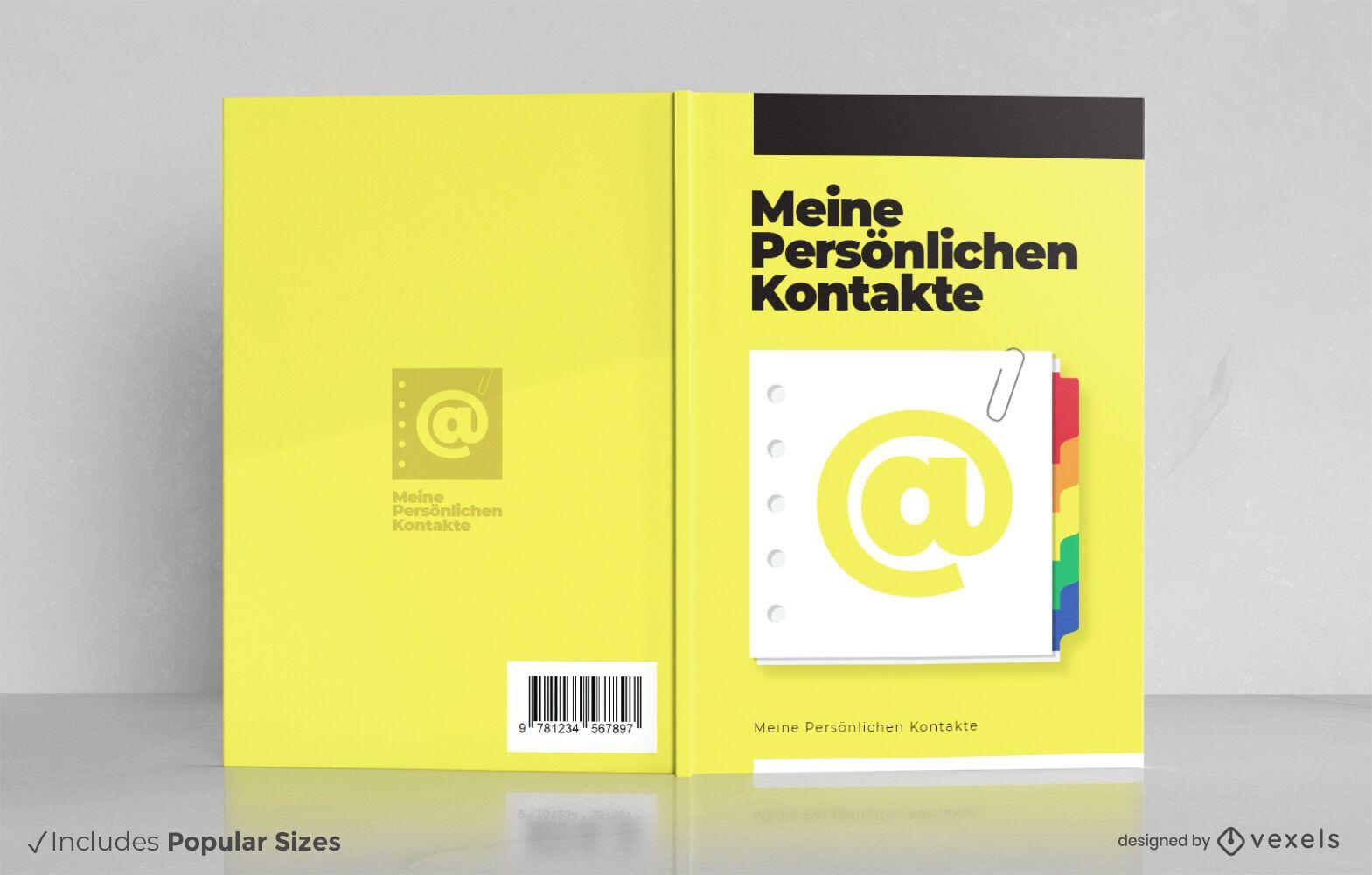Design da capa do livro alemão do guia do telefone