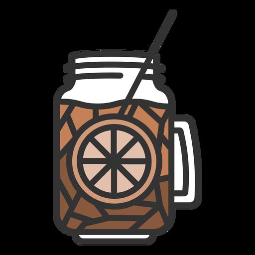Tea drink color stroke