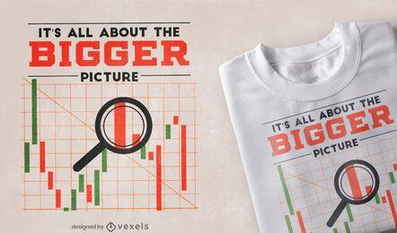 Diseño de camiseta de cotización de gráfico de mercado de valores