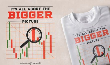 Stock market graph quote t-shirt design