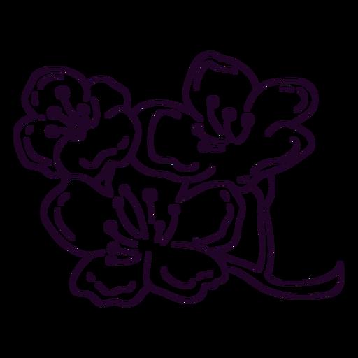 Stem with flowers stroke