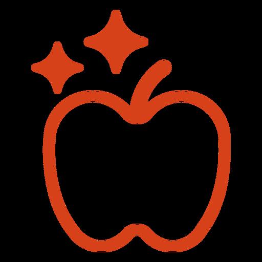 Shiny apple filled stroke