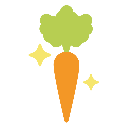 Sparkly carrot flat