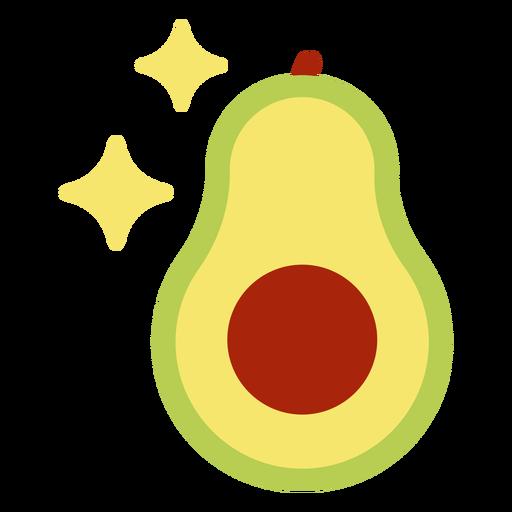 Avocado in half flat