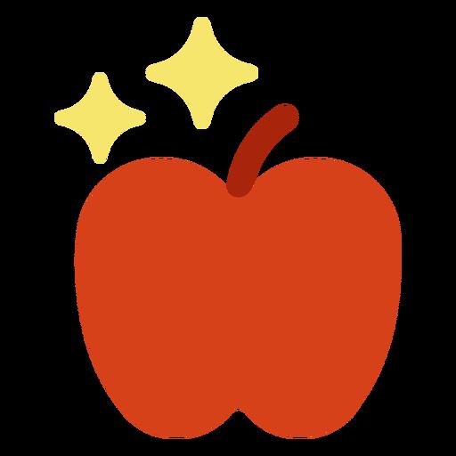 Healthy apple flat