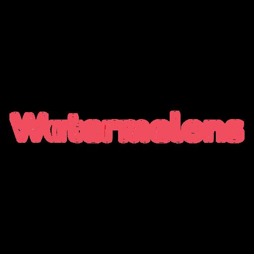 Watermelon word stroke