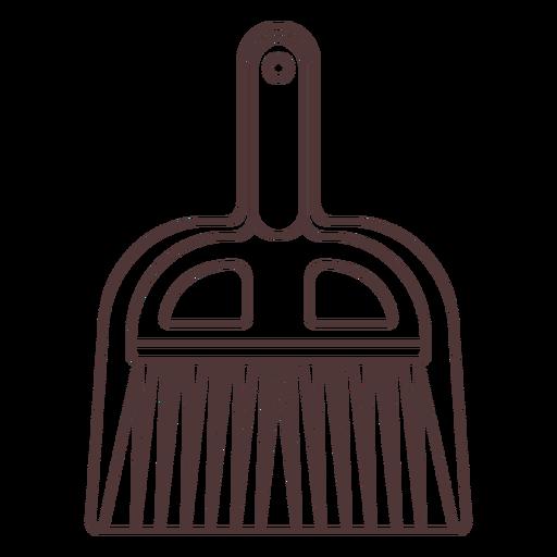 Shovel and brush stroke