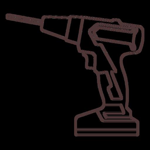 Hand drill stroke