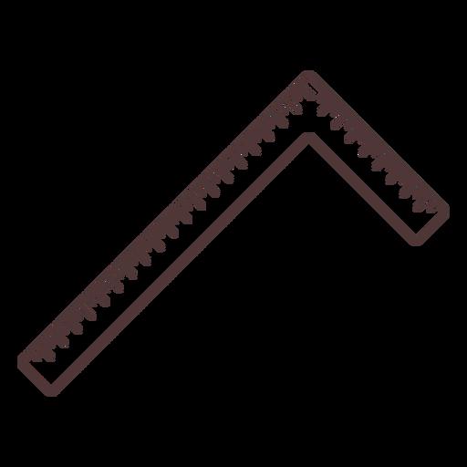 Square ruler tool stroke