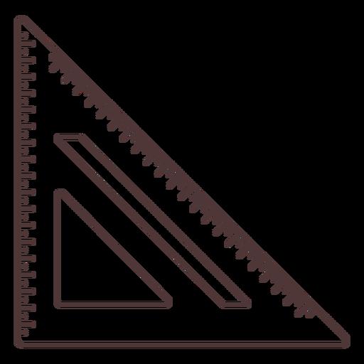 Square type ruler stroke