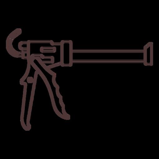 Glue gun design stroke