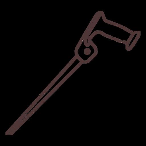 Saw tool stroke