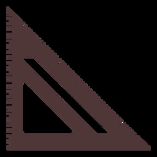 Ausgeschnittenes quadratisches Lineal