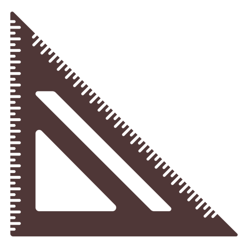 Square type ruler cut out