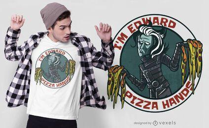 Pizza hands parody t-shirt design