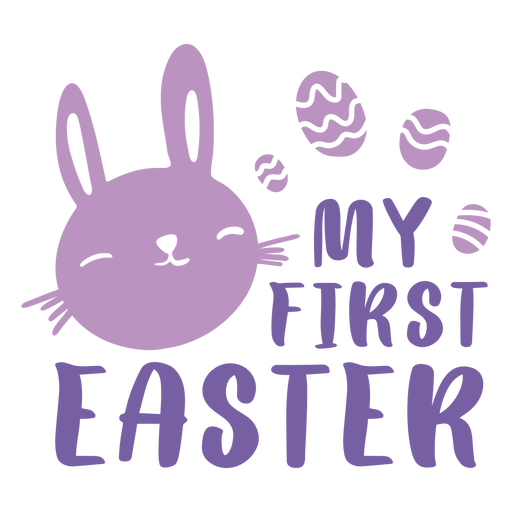 First easter holiday cute badge