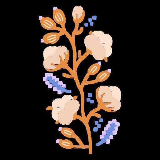 Orange flowers semi flat