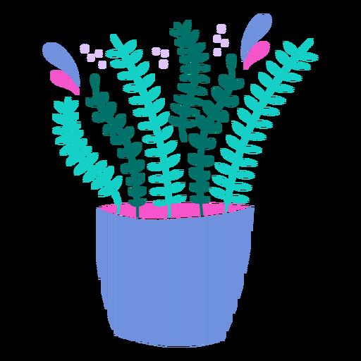Thin plants in a pot semi flat