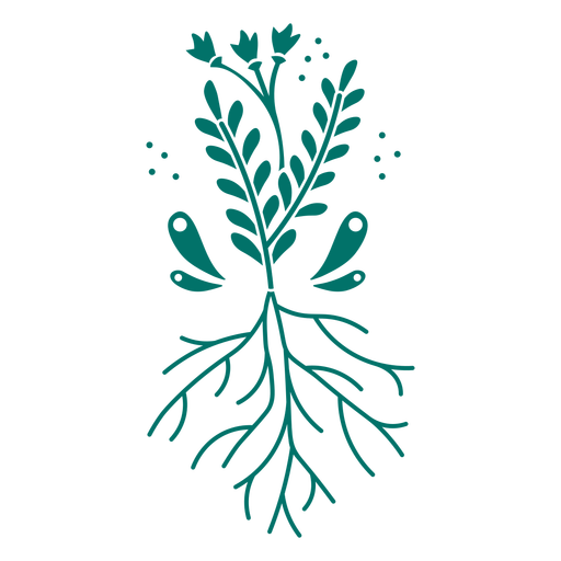 Plants and roots design cut out