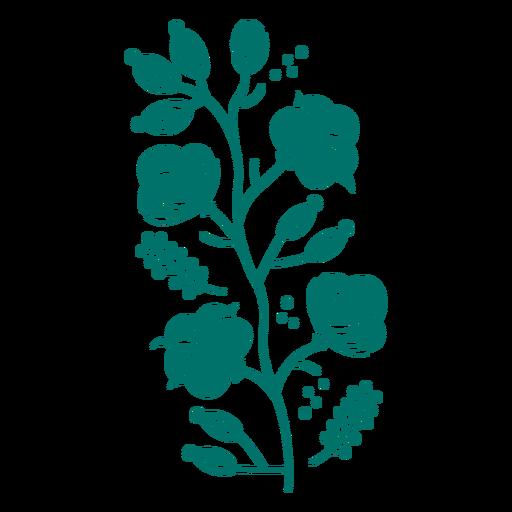 Wild flowers organic design cut out