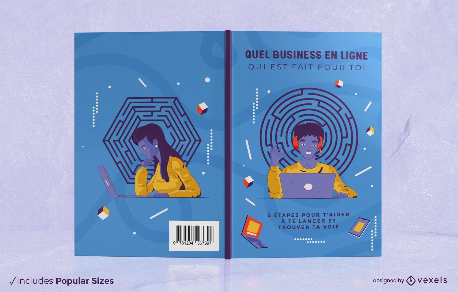 Design de capa de livro de negócios online