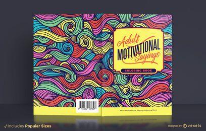 Motivierende Sprüche Buchumschlag Design