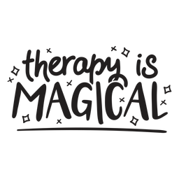 Therapy is magical quote filled stroke