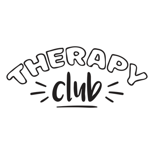 Therapy club quote filled stroke