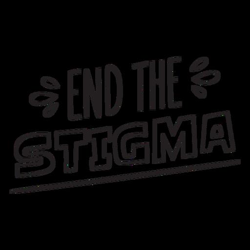 End the stigma quote stroke