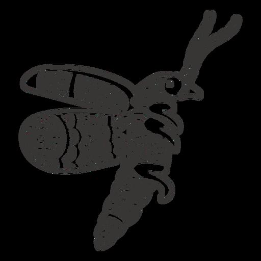Flying bug mandala style cut out