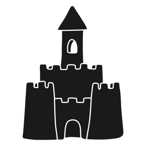 Black sand castle cut out