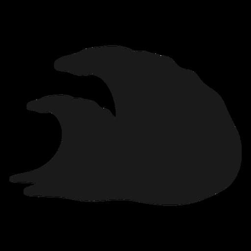 Ocean waves silhouette