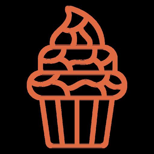 Sweet cupcake stroke