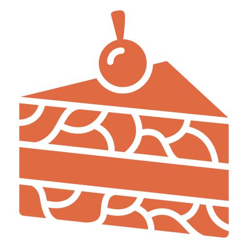 Slice of cake cut out