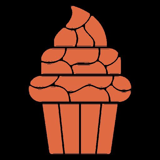 Sweet cupcake cut out