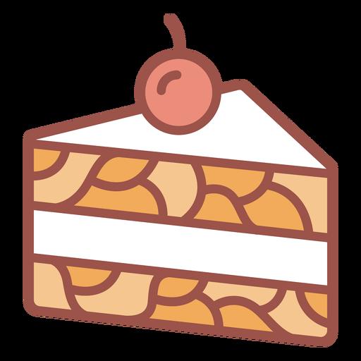 Slice of cake color stroke