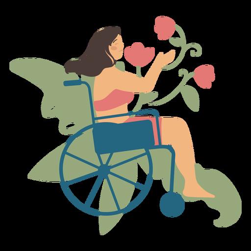 Girl in wheelchair flat